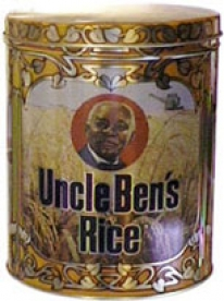 """Photo of Uncle Ben's Rice tin. """"Tom"""" Stereotype"""