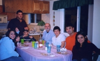 Photo of the Freij and Kaoud families
